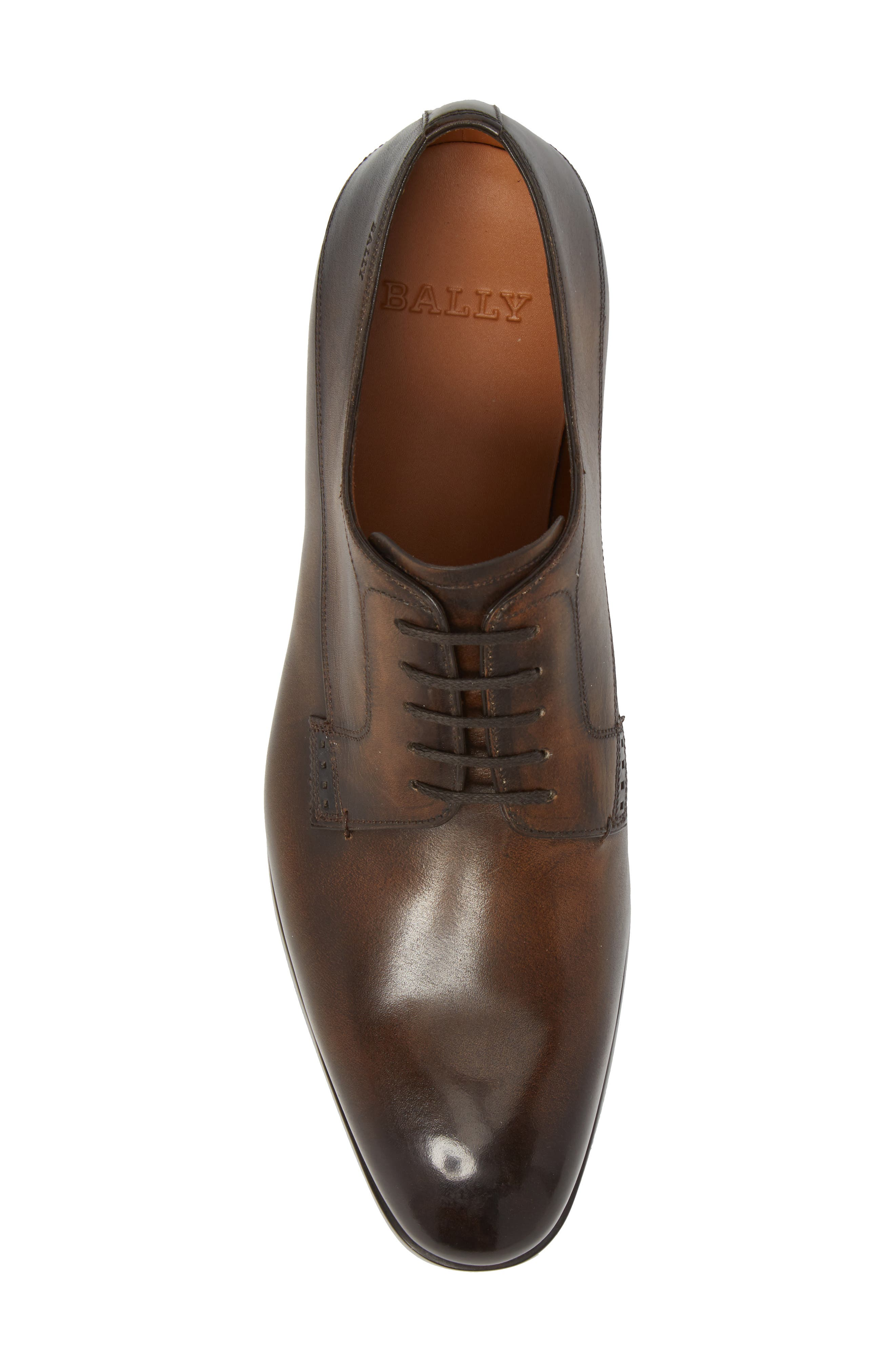 ,                             Lantel Plain Toe Derby,                             Alternate thumbnail 5, color,                             MID BROWN