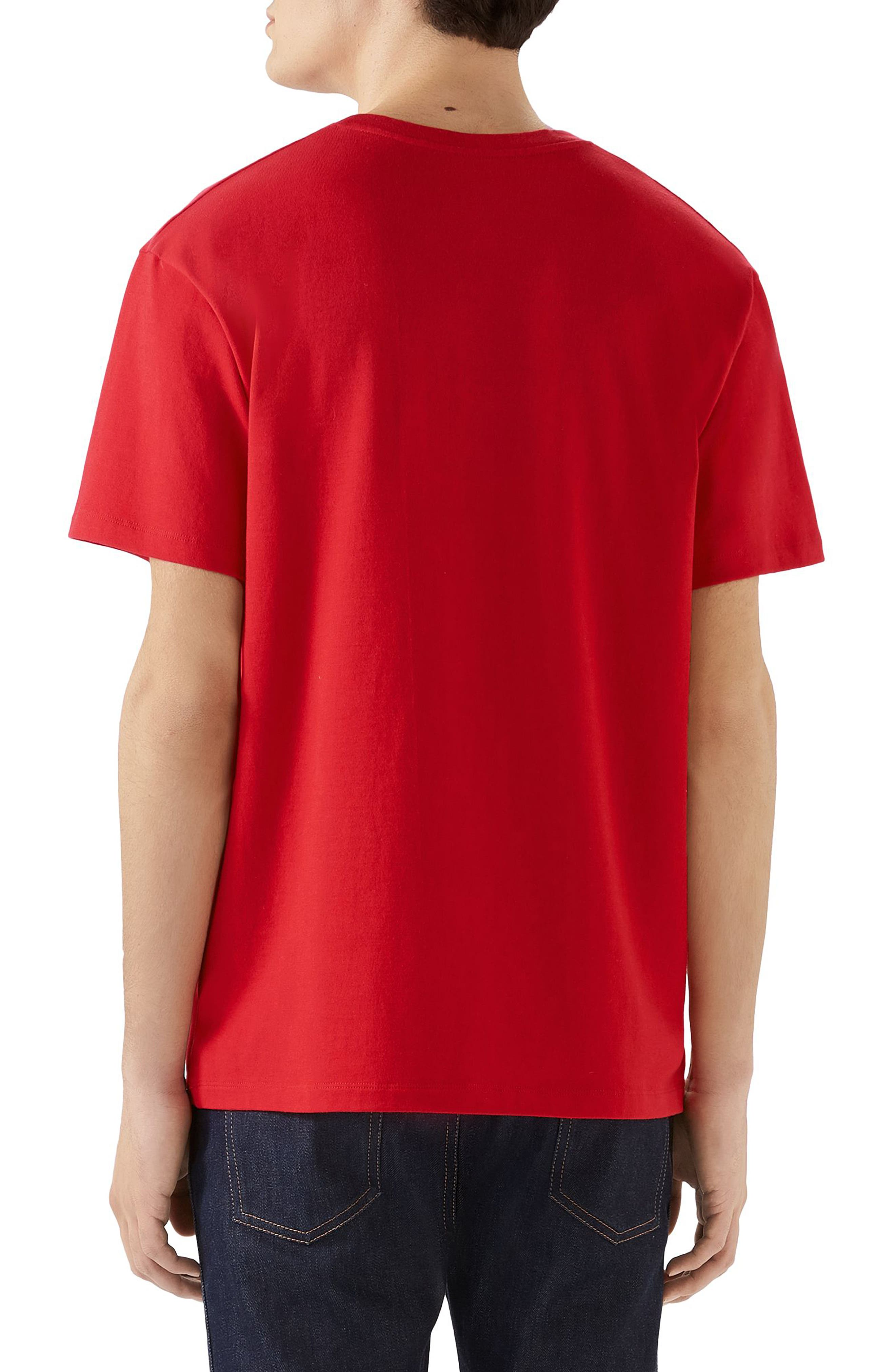 ,                             Tennis Embroidered Cotton T-Shirt,                             Alternate thumbnail 2, color,                             LIVE RED