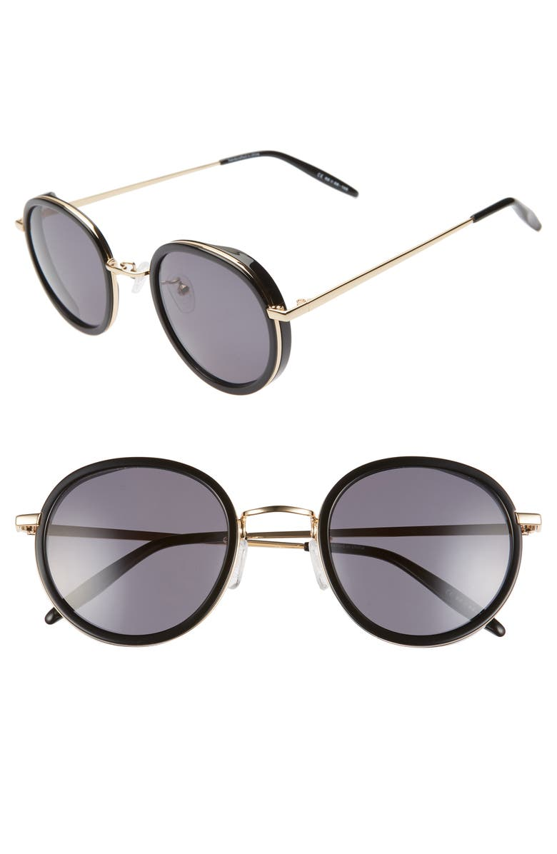 BP. 52mm Round Sunglasses, Main, color, 001
