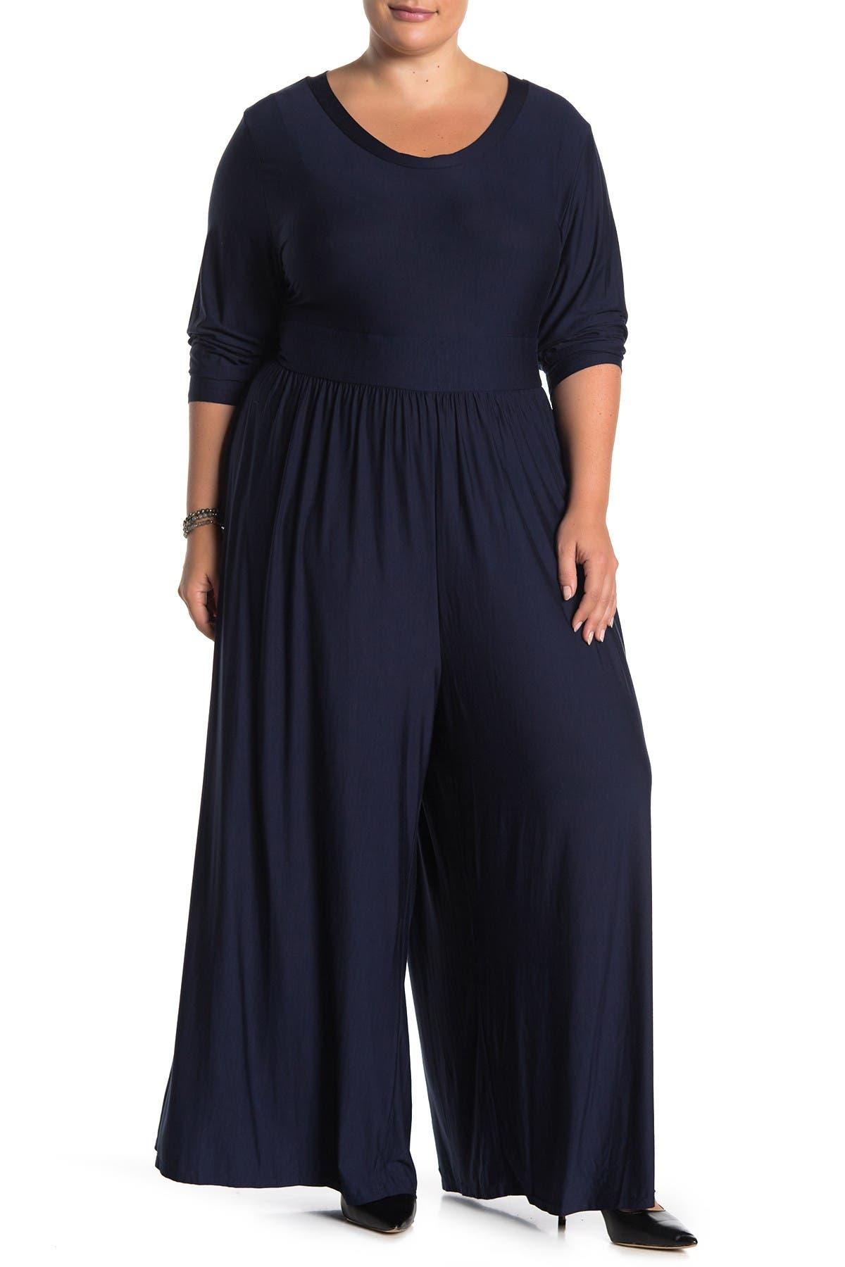 Image of WEST KEI Long Sleeve Knit Jumpsuit