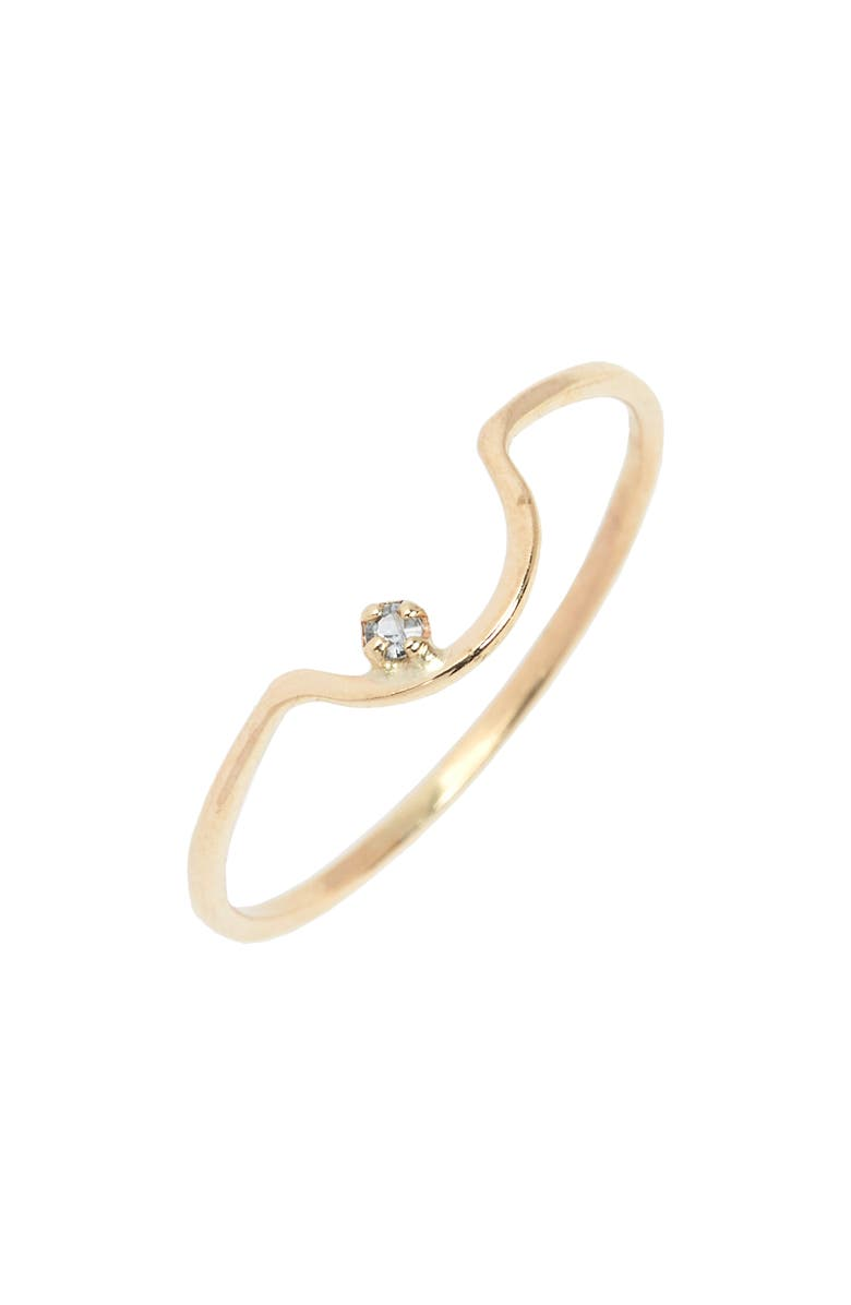 WWAKE Arc Lineage Ring, Main, color, LIGHT SAPPHIRE