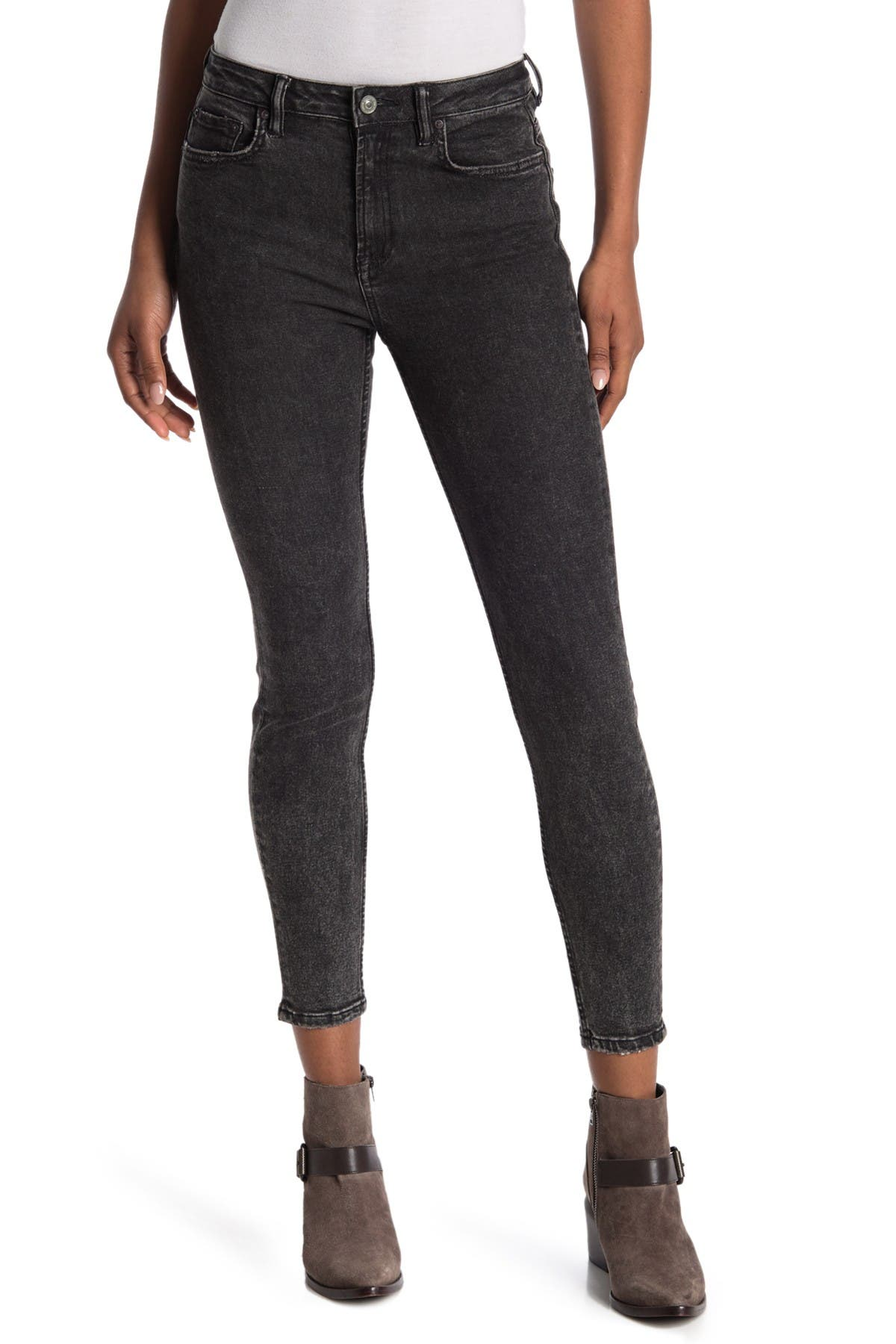 Image of ALLSAINTS Nyla High Waist Ankle Crop Skinny Jeans