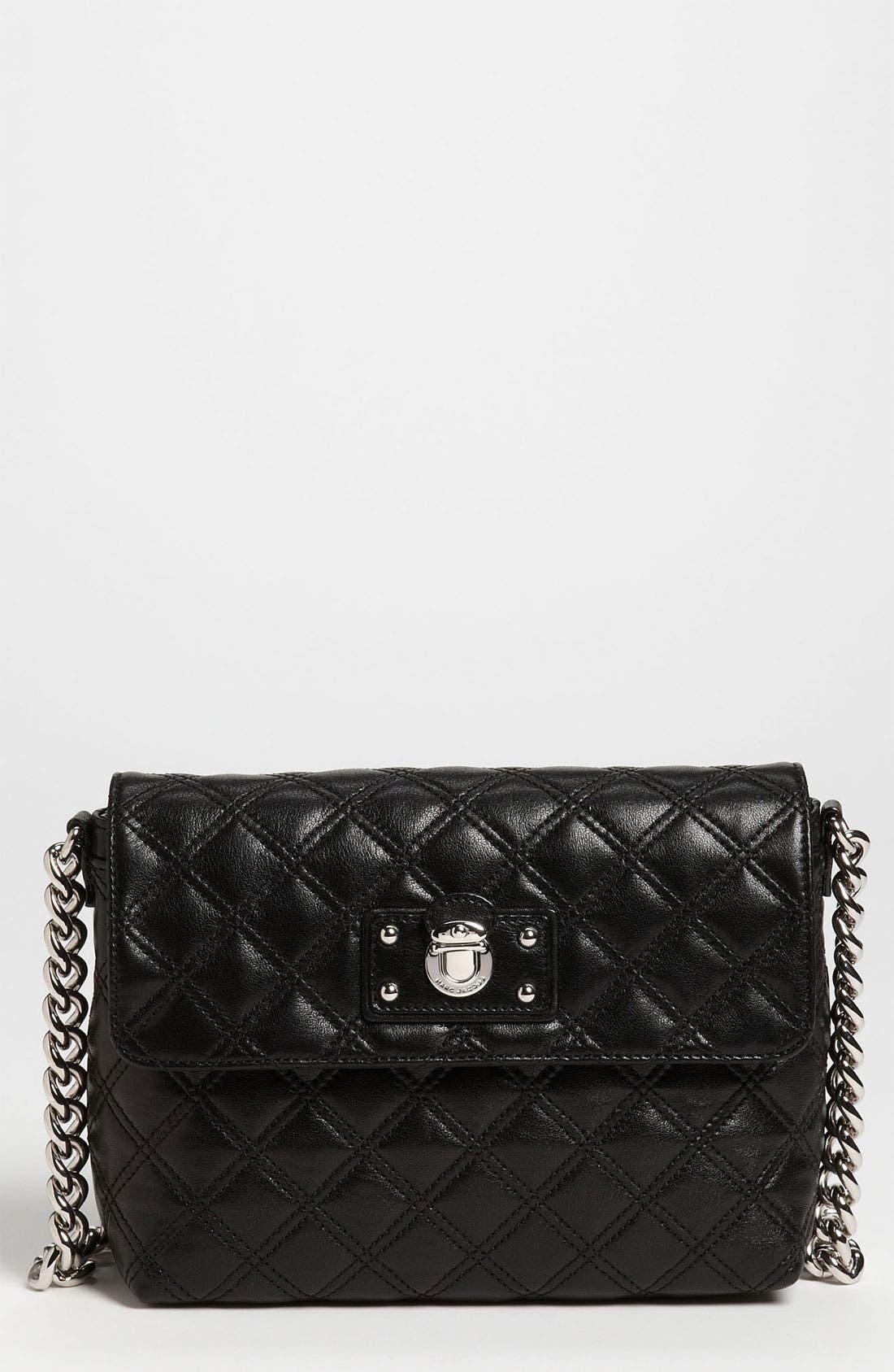 ,                             'Large Quilting Single' Leather Shoulder Bag,                             Main thumbnail 5, color,                             003