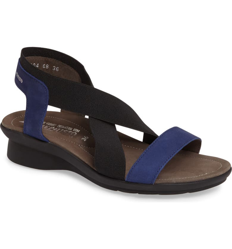 MEPHISTO 'Pastora' Sandal, Main, color, BLUE NUBUCK LEATHER