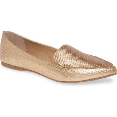 Steve Madden Feather Loafer Flat- Metallic
