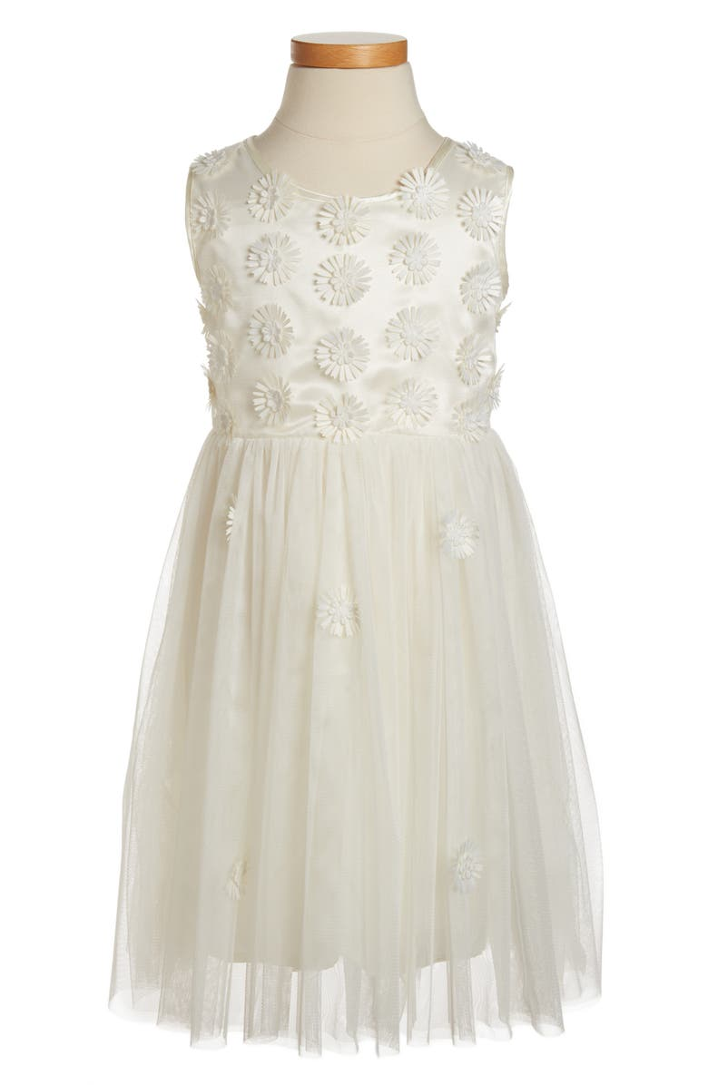POPATU Daisy Sleeveless Dress, Main, color, WHITE