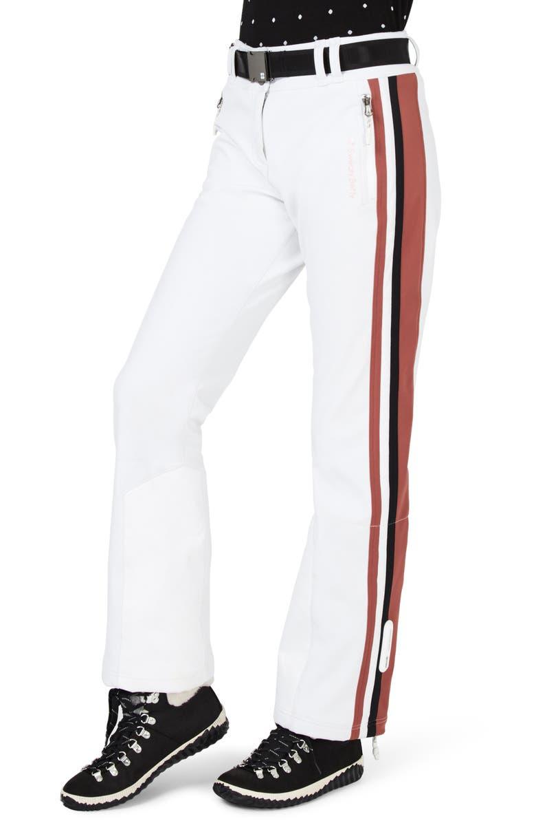 SWEATY BETTY Moritz Waterproof Soft Shell Slim Leg Ski Pants, Main, color, 100