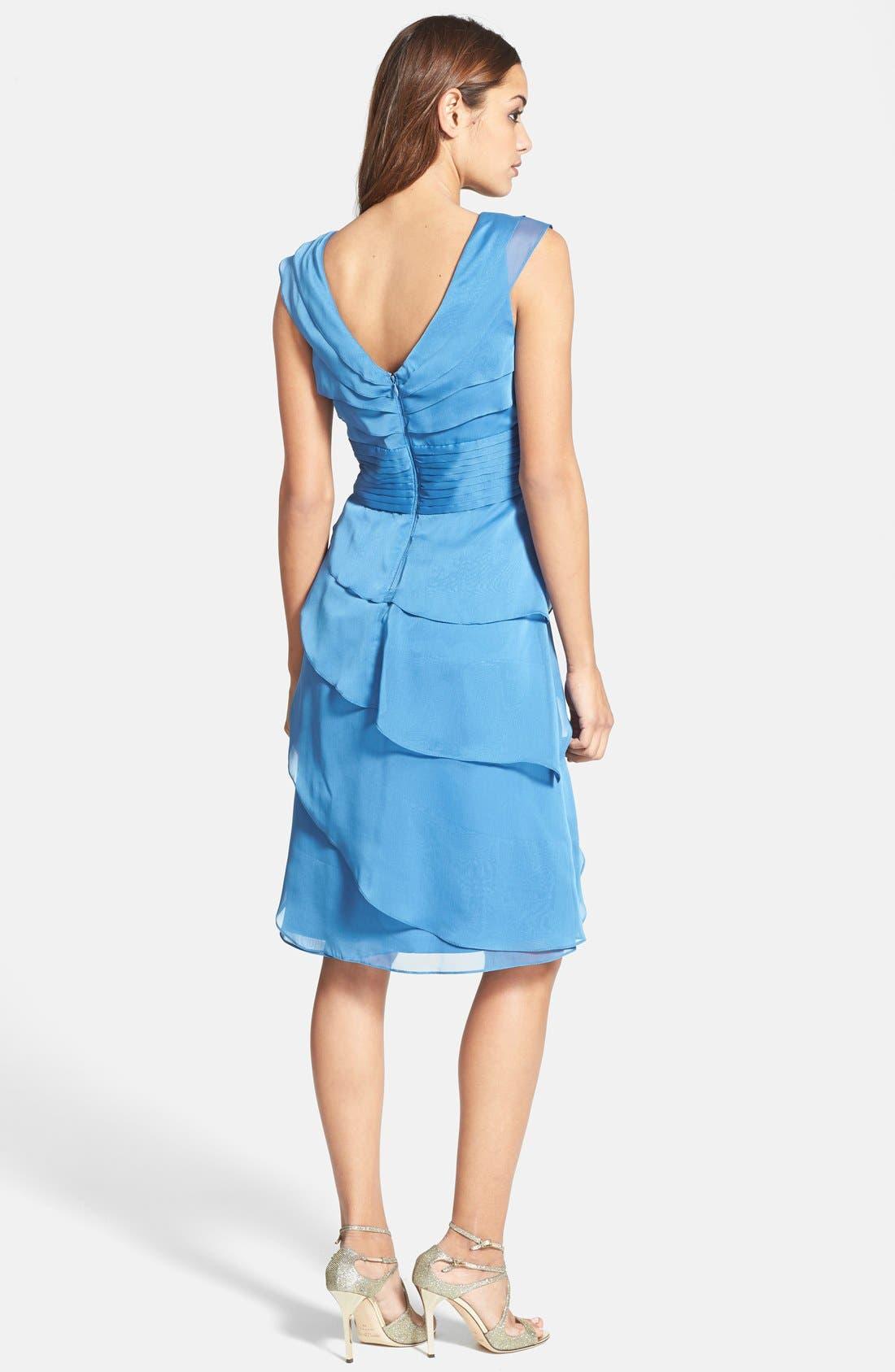 ,                             Tiered Chiffon Dress,                             Alternate thumbnail 17, color,                             405