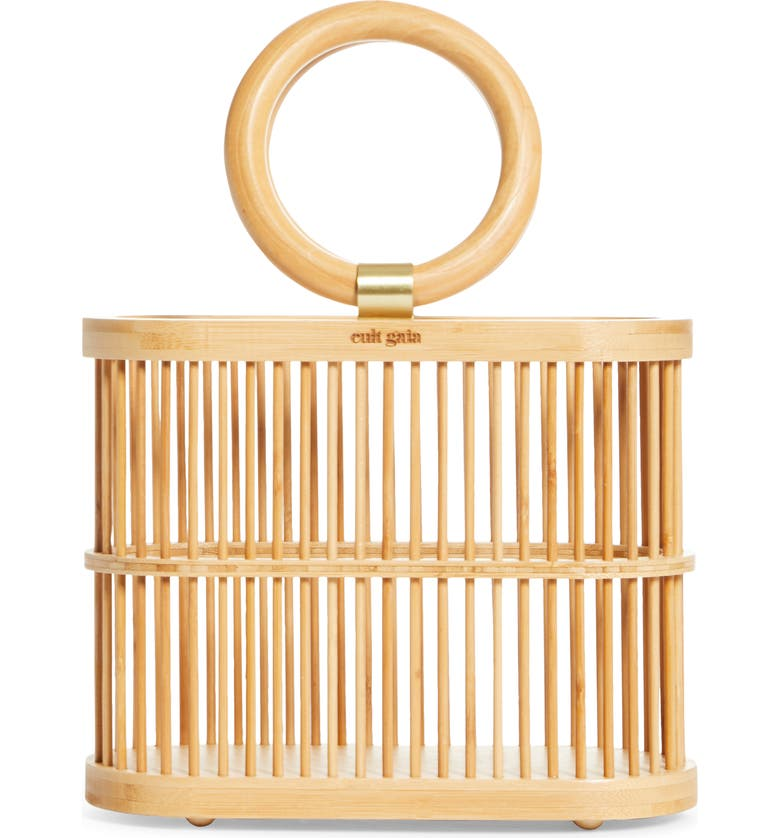 CULT GAIA Mini Coco Top Handle Bamboo Bag, Main, color, TAN NATURAL