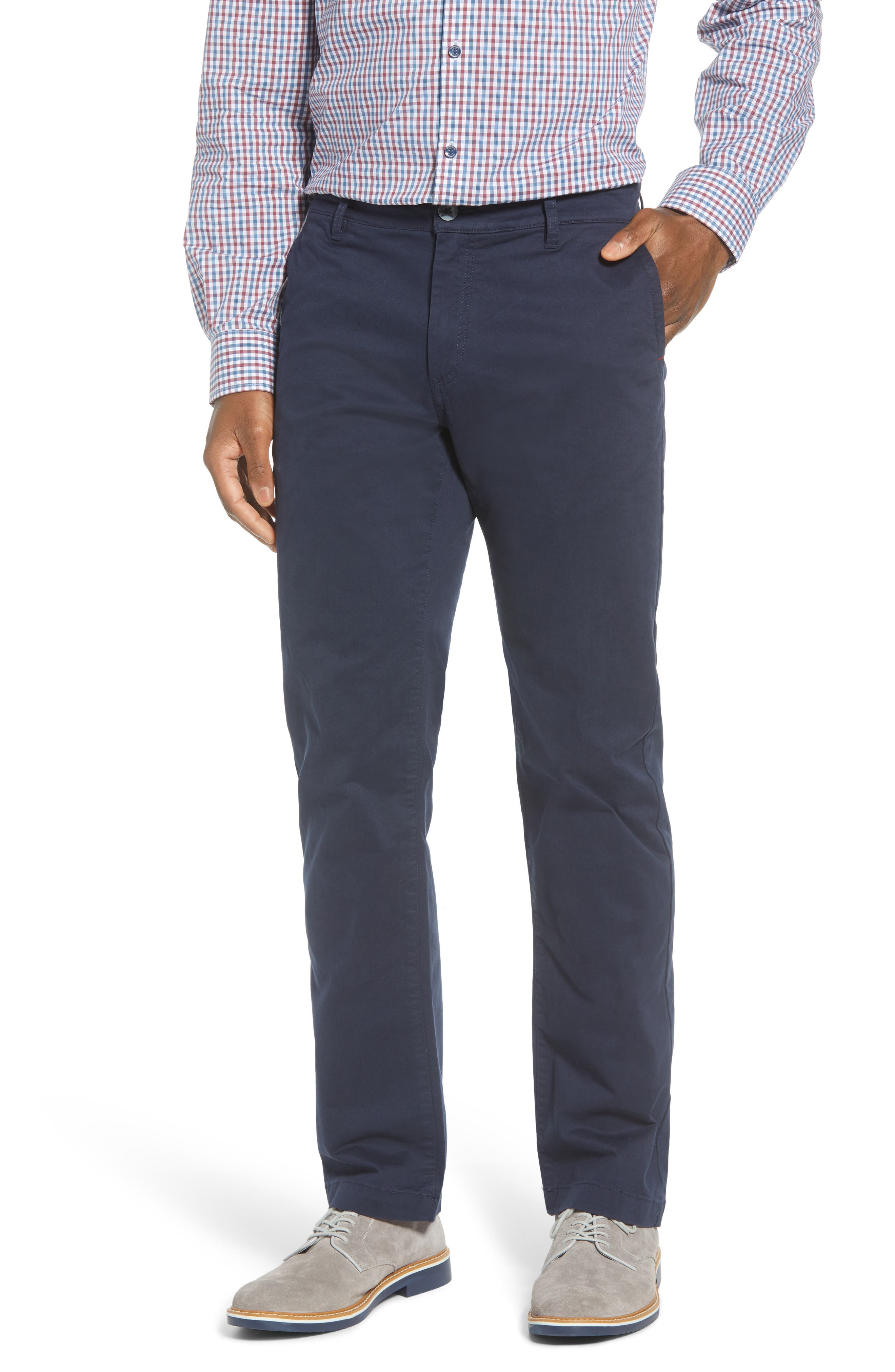 Garment-washed stretch cotton means a flexible feel in versatile chinos with casual appeal. Style Name: Cutter & Buck Voyager Stretch Cotton Chino Pants. Style Number: 6054937. Available in stores.