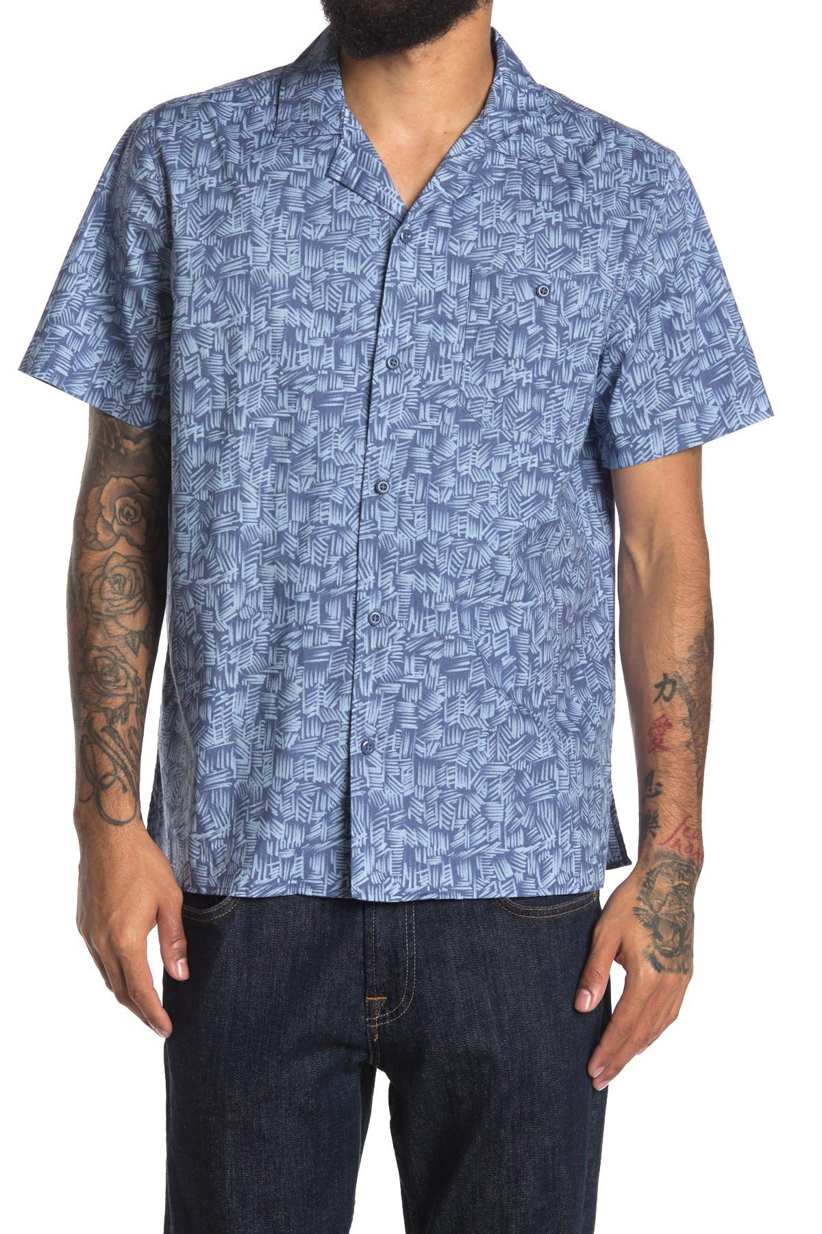 Image of Abound Printed Short Sleeve Regular Fit Camp Shirt