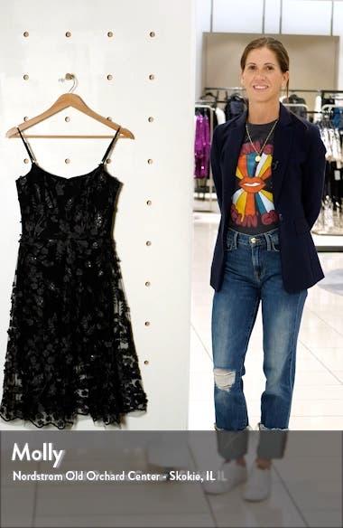 3D Lace Fit & Flare Dress, sales video thumbnail