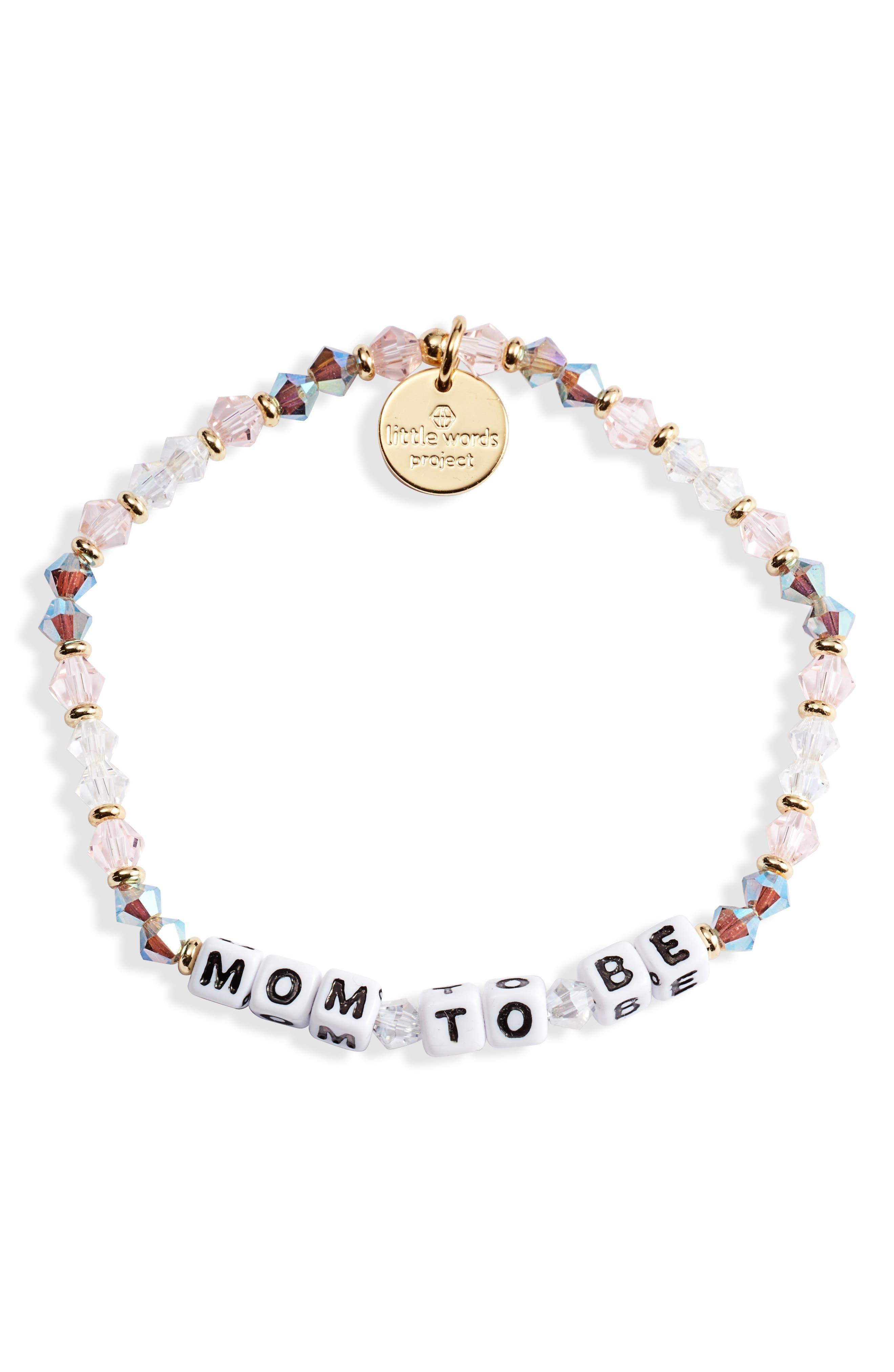 Mom To Be Beaded Bracelet
