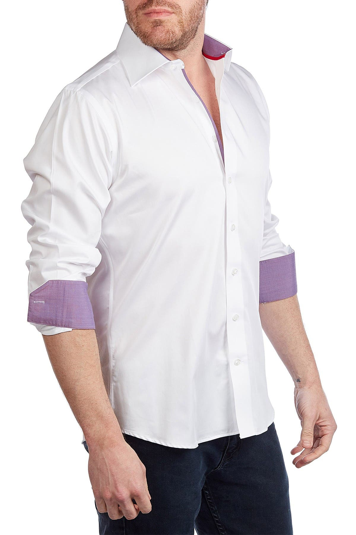 Image of Levinas Solid Contemporary Fit Shirt