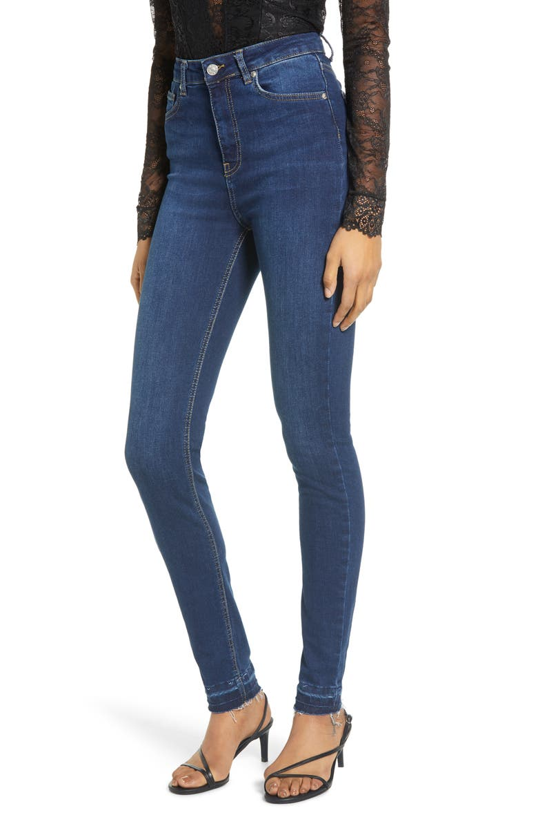 NA-KD Released Hem Skinny Jeans, Main, color, 438