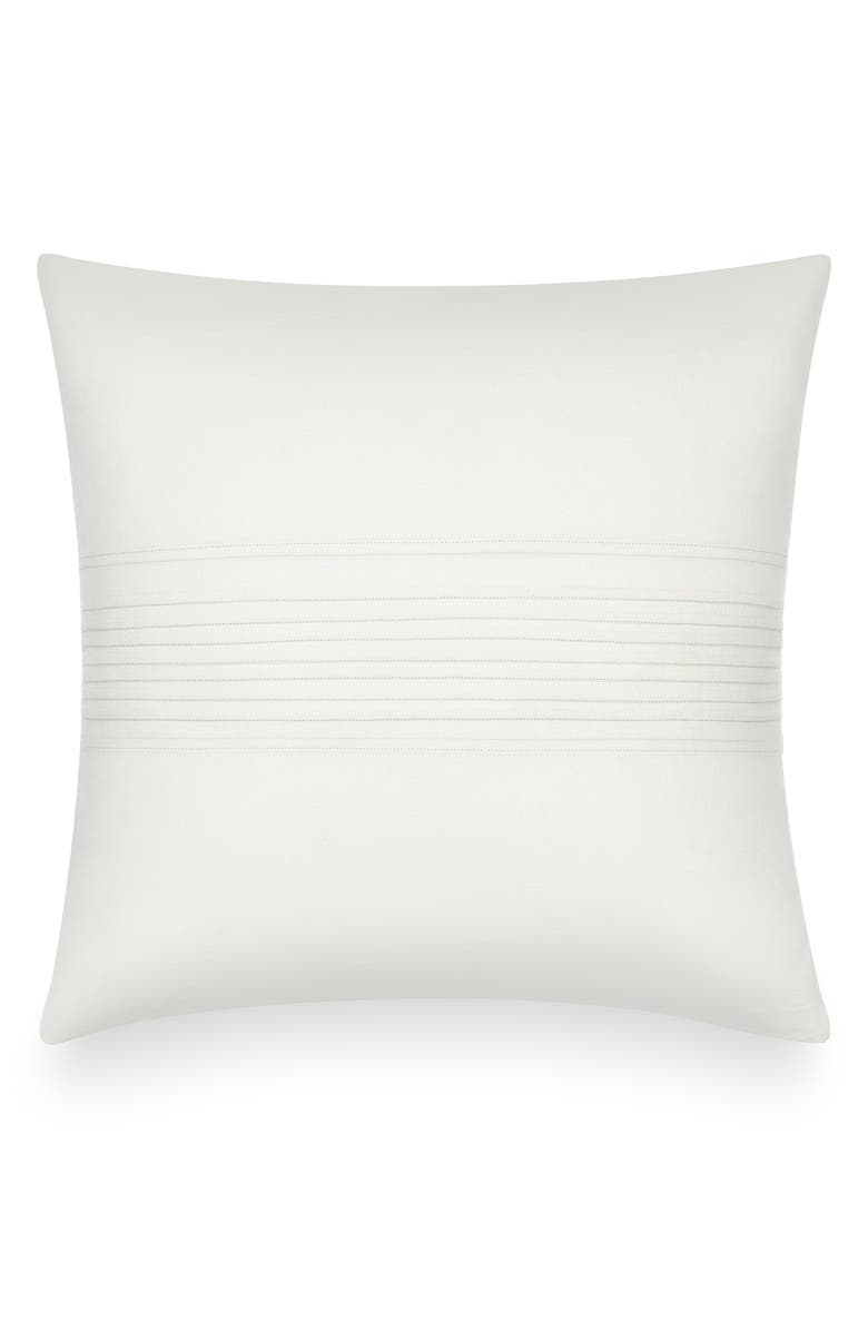 CALVIN KLEIN Pleated Accent Pillow, Main, color, CREAM