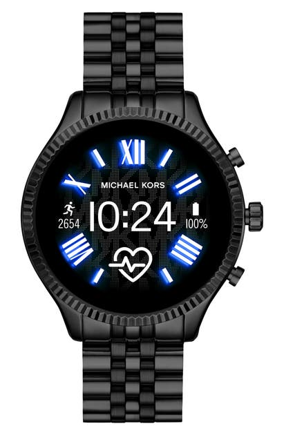 Michael Kors Access Michael Michael Kors Lexington 2 Bracelet Smart Watch, 44mm In Black/ Color Display/ Black