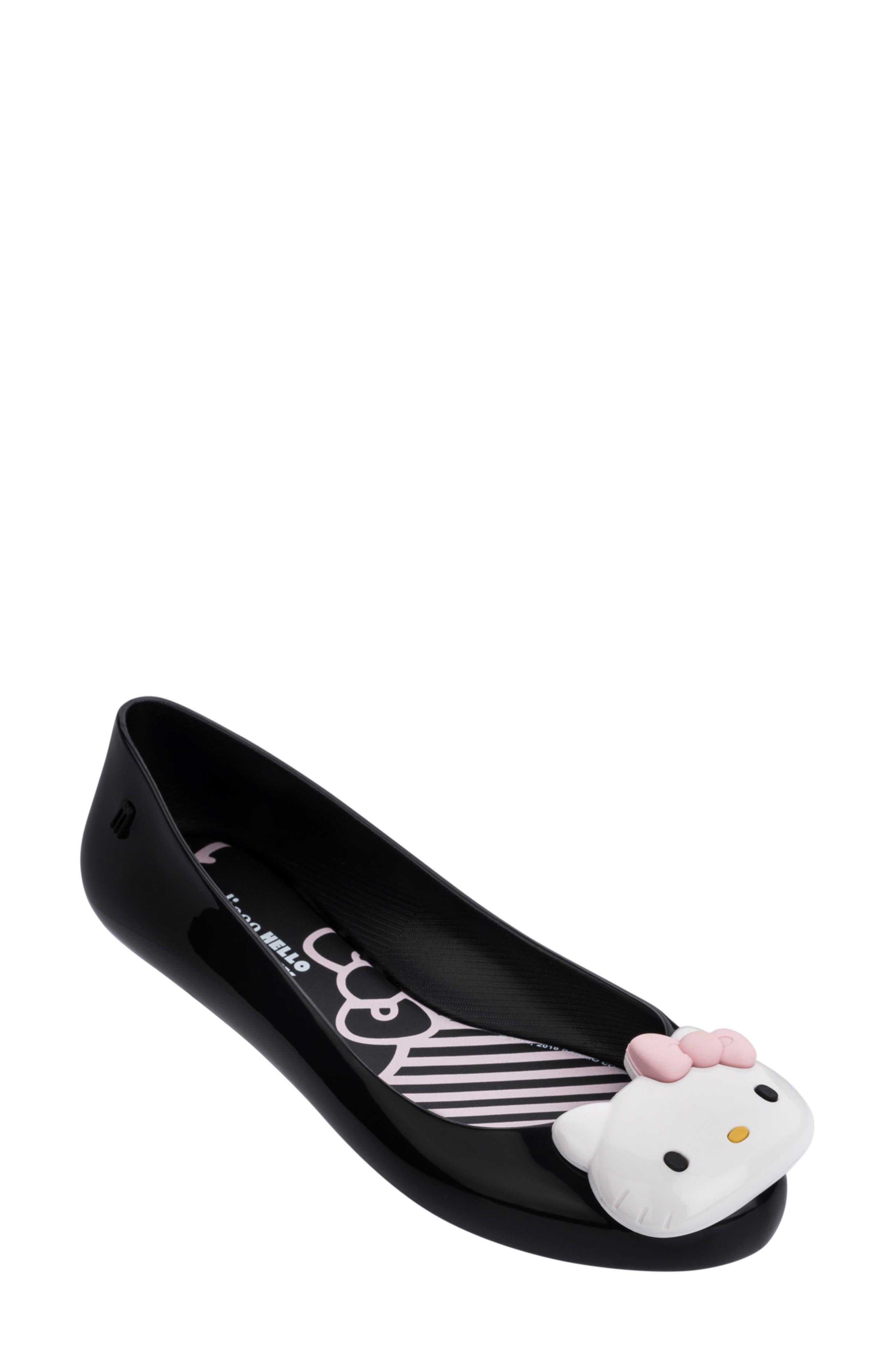 Melissa Hello Kitty Flat, Black