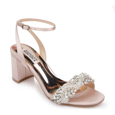 Badgley Mischka Clara Embellished Sandal- Pink