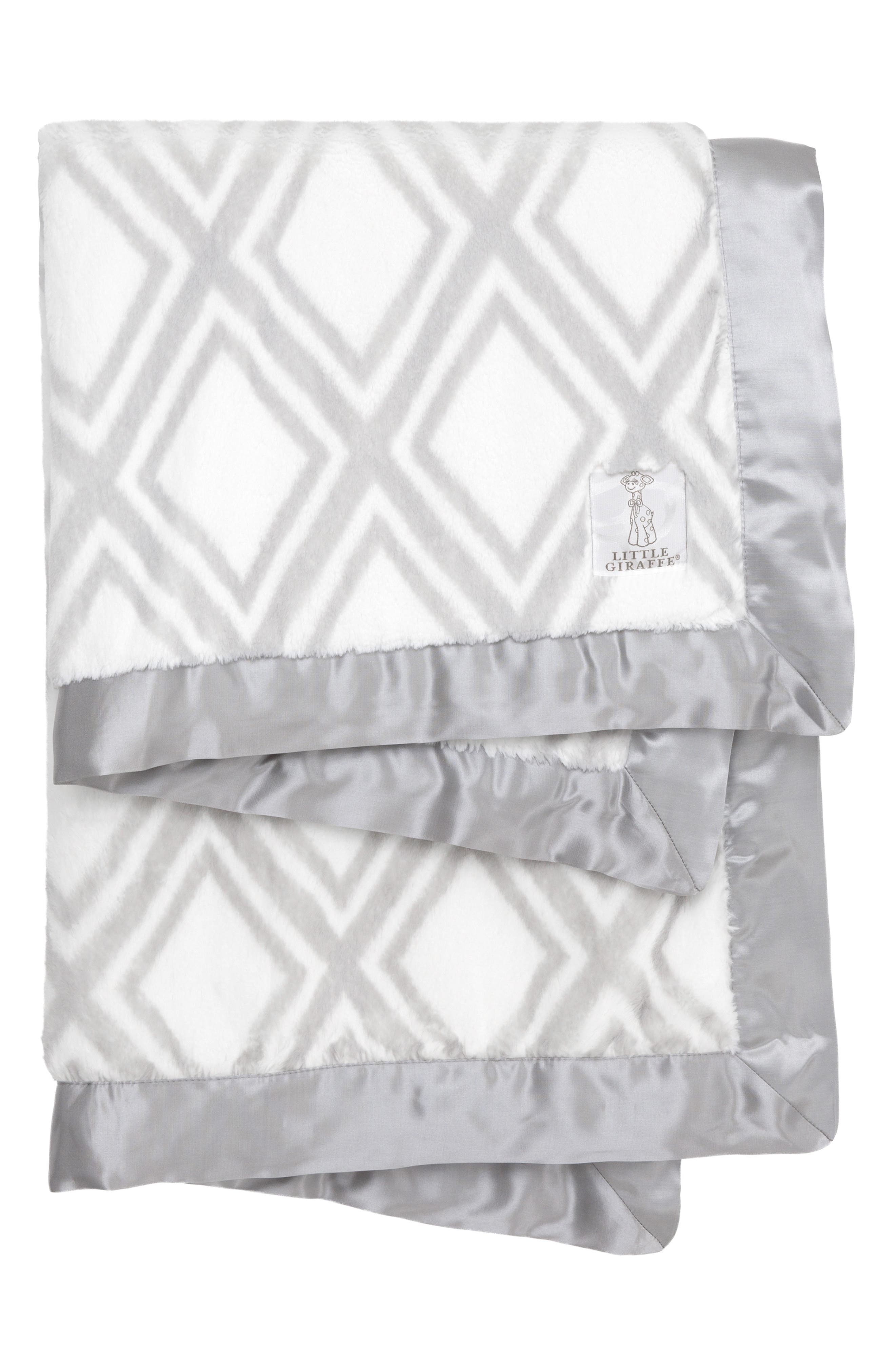 ,                             Luxe<sup>™</sup> Diamond Baby Blanket,                             Main thumbnail 1, color,                             SILVER