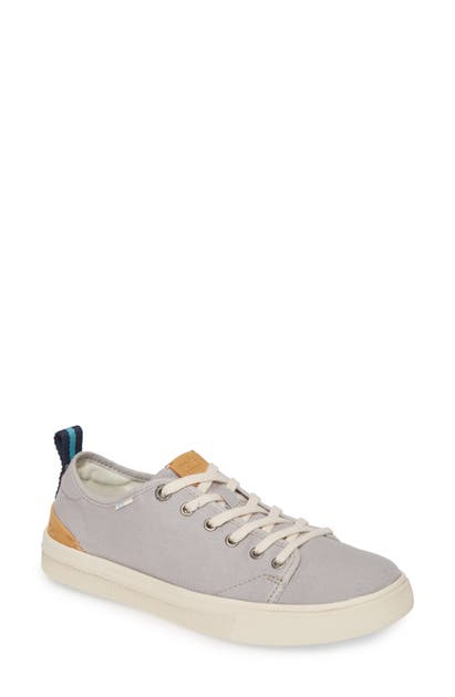 Toms Travel Lite Low Top Sneaker In Drizzle Grey Canvas