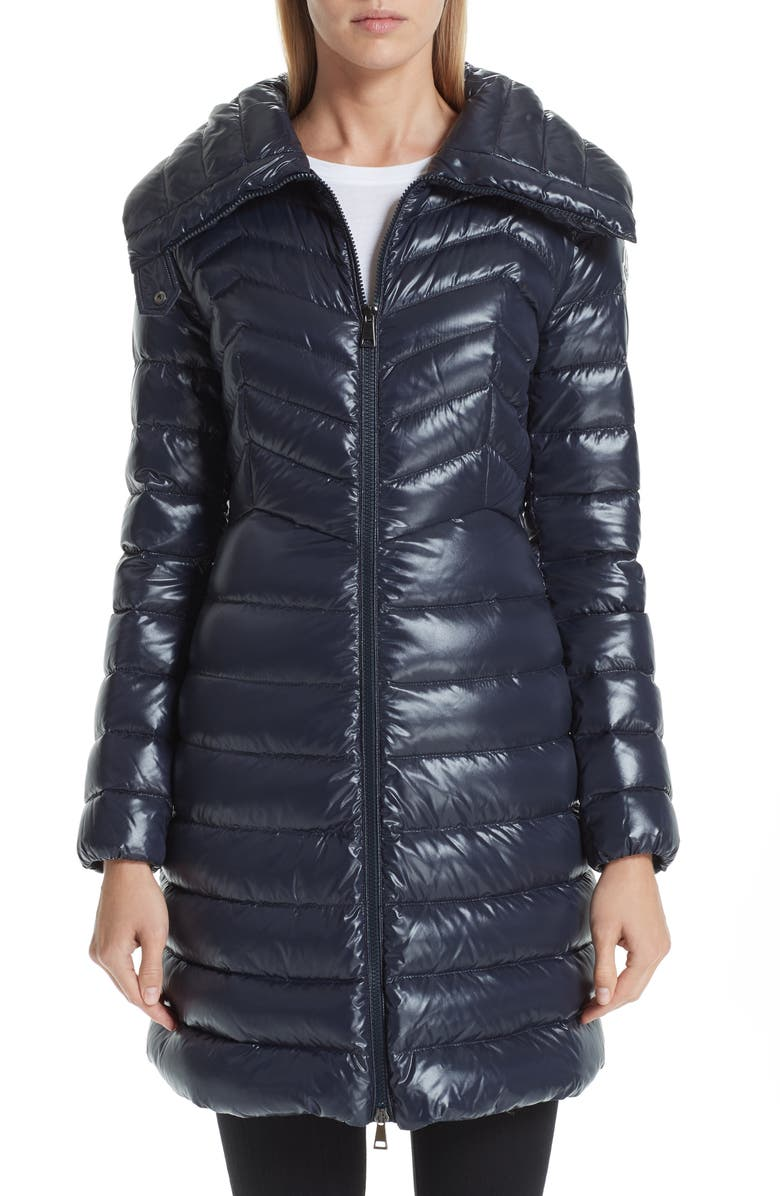 MONCLER Faucon Quilted Down Coat, Main, color, NAVY