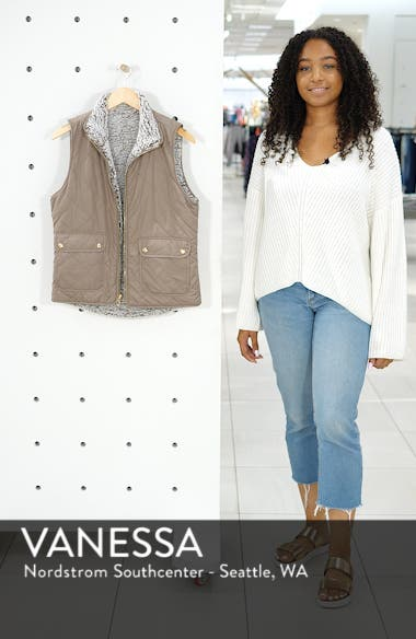 Reversible Fleece Lined Quilted Vest, sales video thumbnail