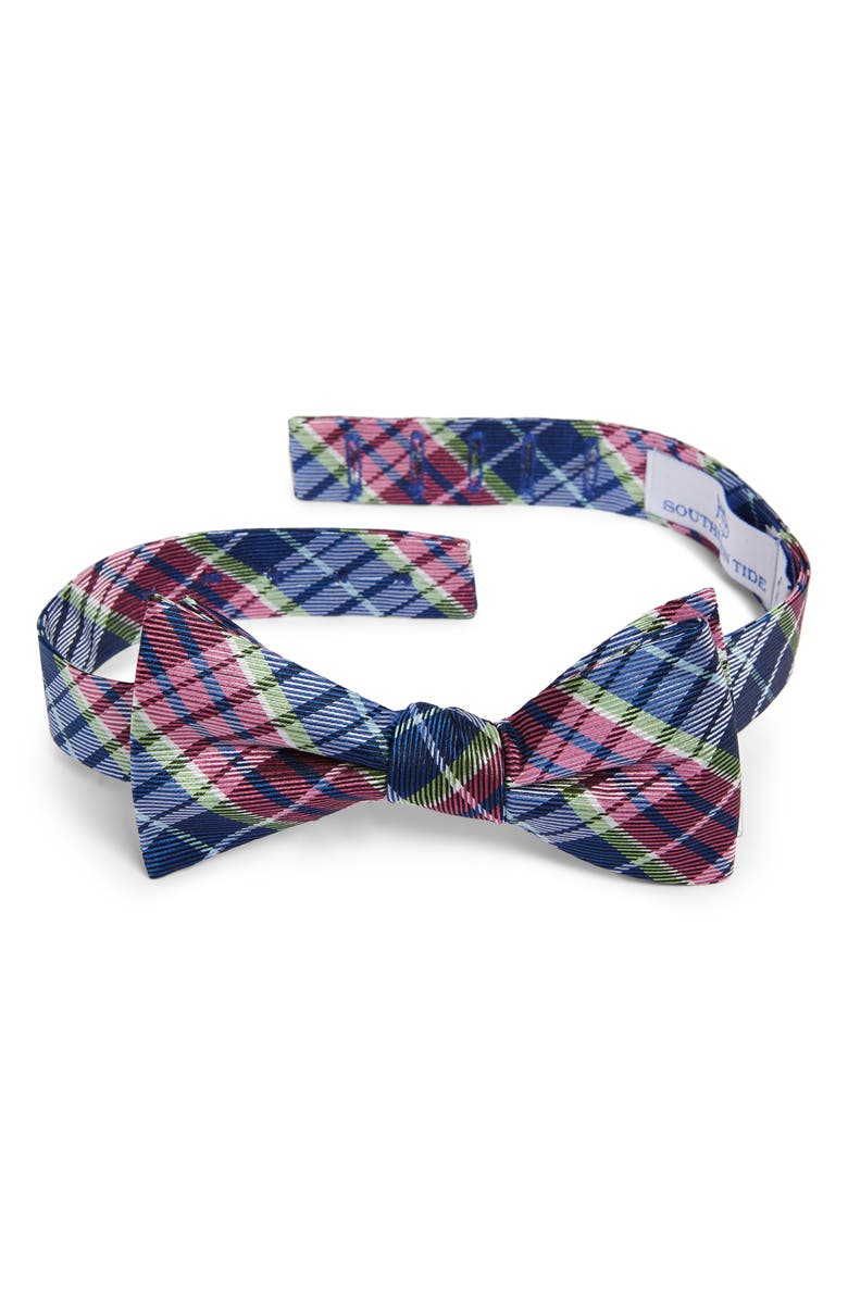 SOUTHERN TIDE Seminole Plaid Bow Tie, Main, color, 410