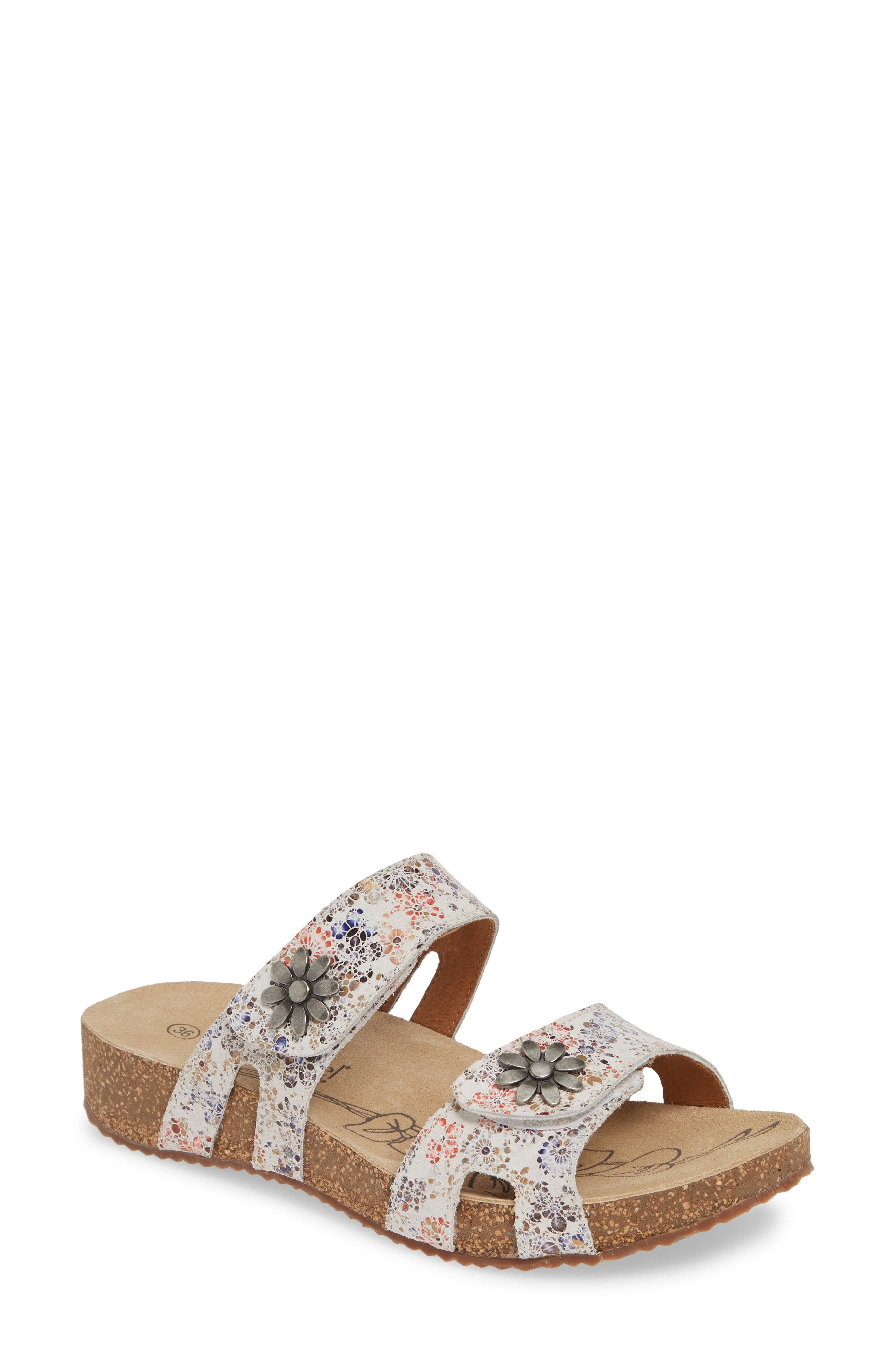 Brushed metallic hardware furthers the vintage-inspired charm of a casual-chic sandal crafted with a contoured, ergonomically cushioned footbed for effortless comfort. Style Name: Josef Seibel \\\'Tonga 04\\\' Sandal. Style Number: 998003. Available in stores.