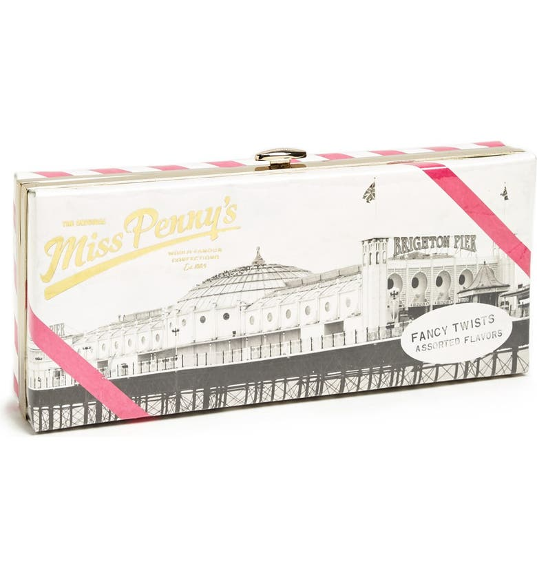 KATE SPADE NEW YORK 'the original miss penny's ' box clutch, Main, color, 660