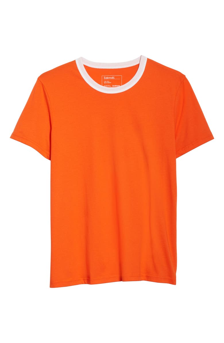 ENTIREWORLD Entrieworld Type A Version 8 Organic Cotton T-Shirt, Main, color, ORANGE WHITE