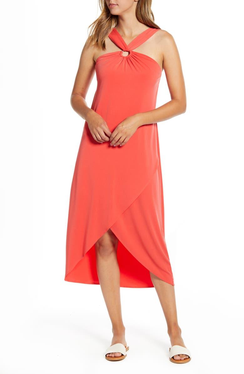 TOMMY BAHAMA Carmela Halter Dress, Main, color, POPPY RED