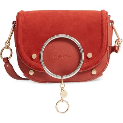See By Chloe Mara Leather Crossbody Bag - Red