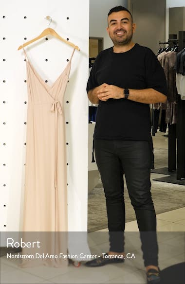 The Angelina Slit Wrap Gown, sales video thumbnail