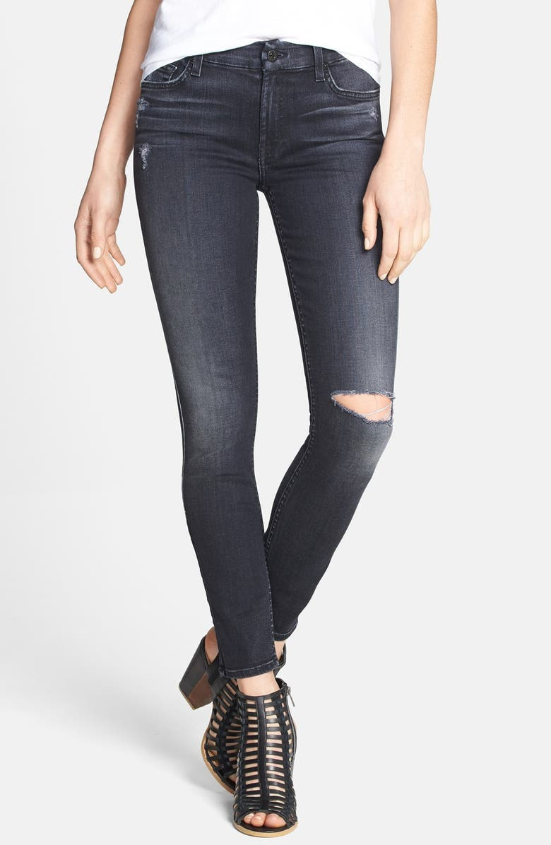 7 FOR ALL MANKIND<SUP>®</SUP> Ankle Skinny Jeans, Main, color, 004