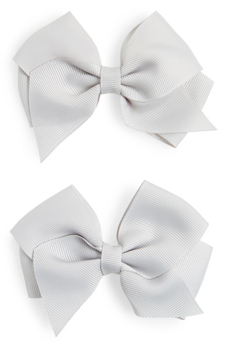 PLH BOWS & Laces Bow Clips, Main, color, 020