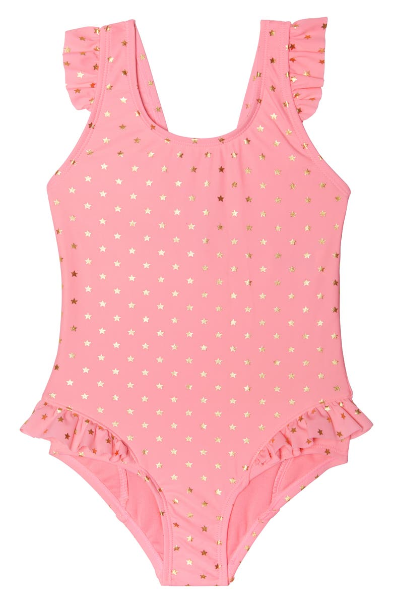 HULA STAR Twinkle Star One-Piece Swimsuit, Main, color, PNK