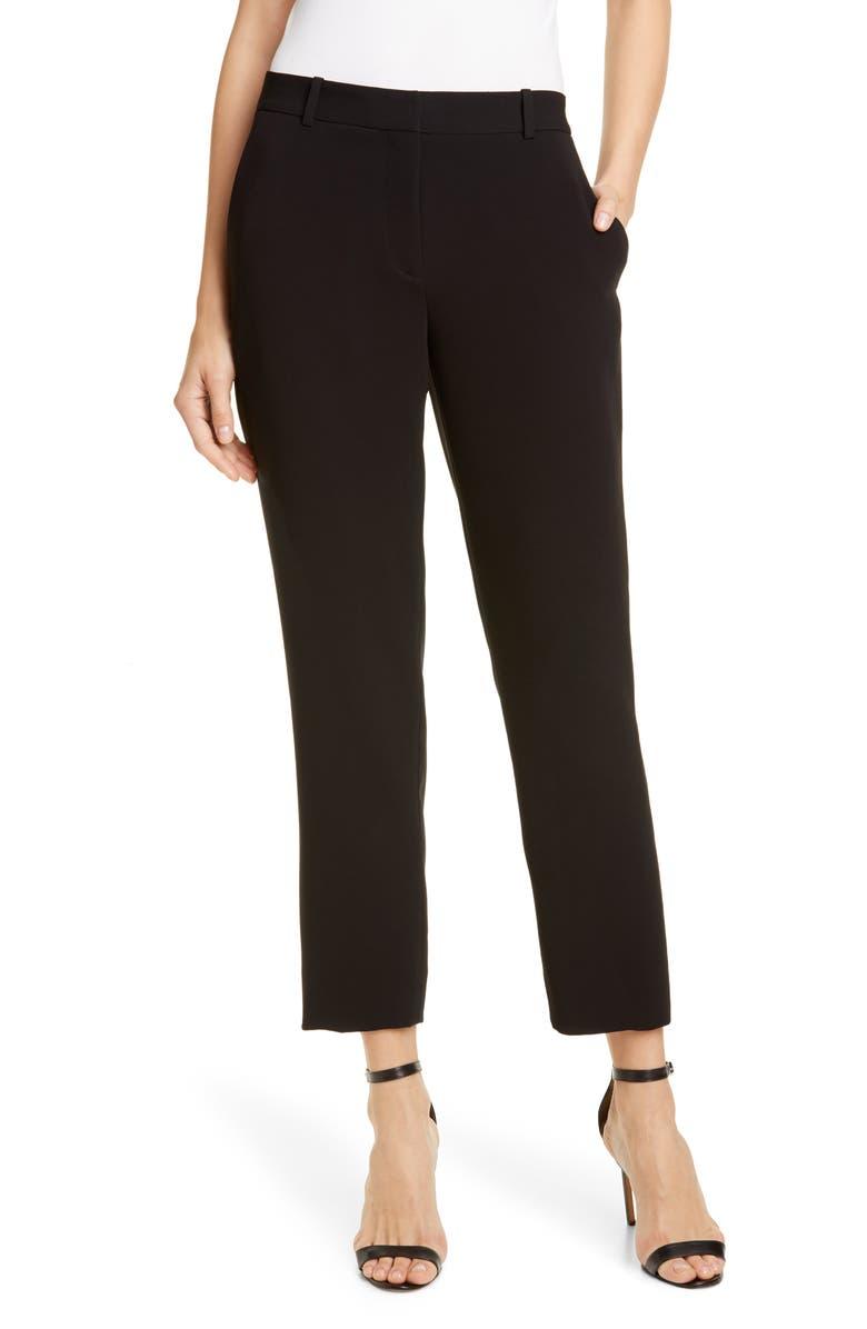 DVF Tami Straight Leg Pants, Main, color, BLACK