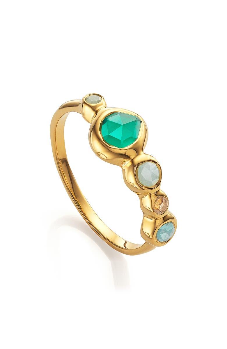 MONICA VINADER Siren Tonal Half Eternity Ring, Main, color, YELLOW GOLD