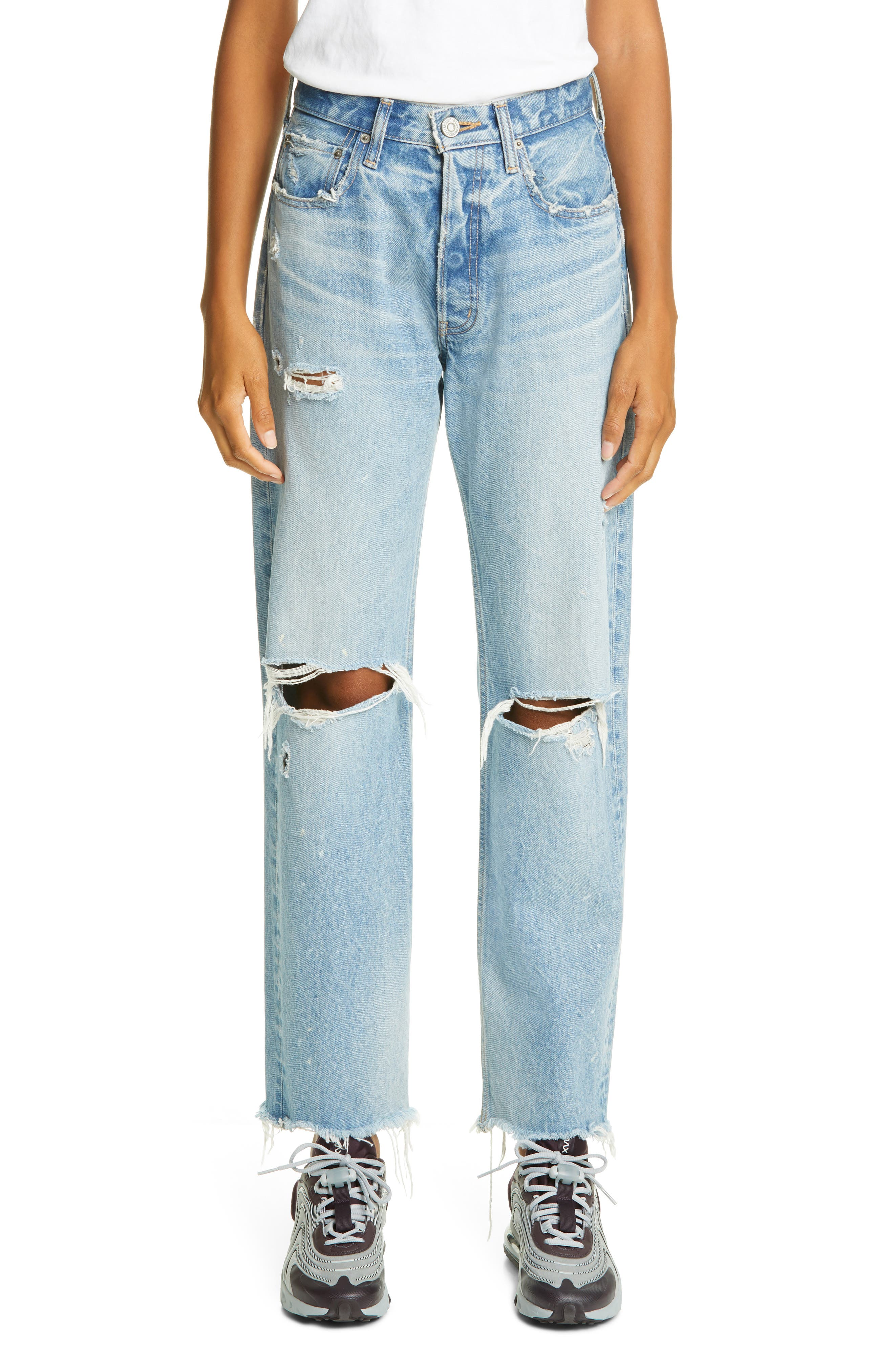 Odessa Ripped Straight Leg Jeans