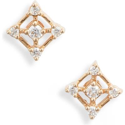Dana Rebecca Designs Ava Bea Square Diamond Stud Earrings