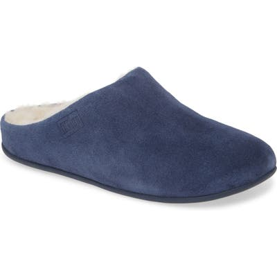 Fitflop Chrissy Genuine Shearling Lined Mule, Blue