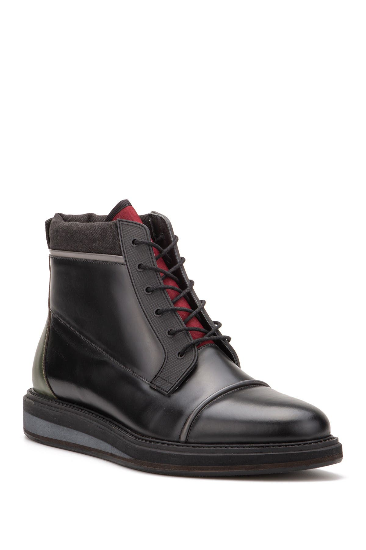 Image of Vintage Foundry Garnet Leather Lace-Up Boot