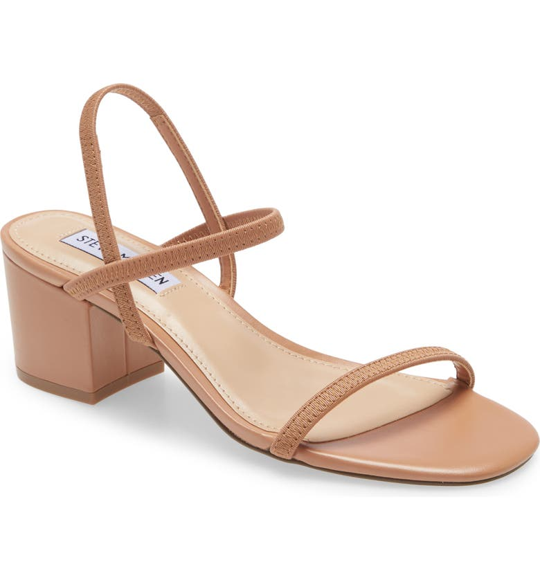 STEVE MADDEN Inessa Block Heel Sandal, Main, color, DARK TAN