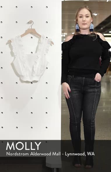 Ruffle Eyelet Crop Top, sales video thumbnail