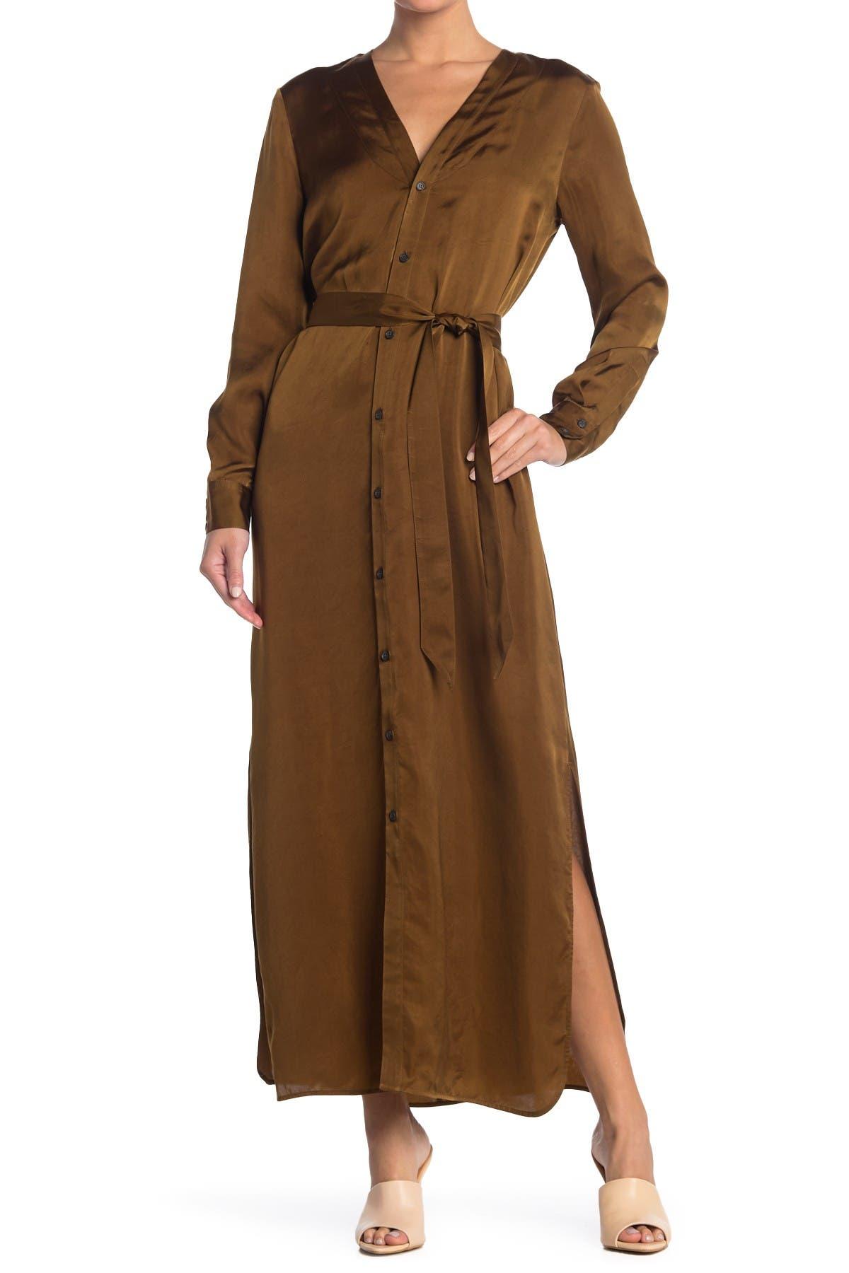 Image of Billy Reid Paneled Robe Dress