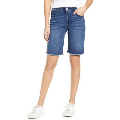 Wit & Wisdom Ab-Solution Retro High Waist Denim Bermuda Shorts, Blue (Nordstrom Exclusive)