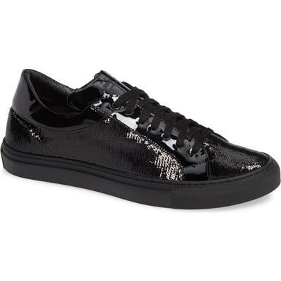 Jared Lang Rome Sequin Sneakers, Black