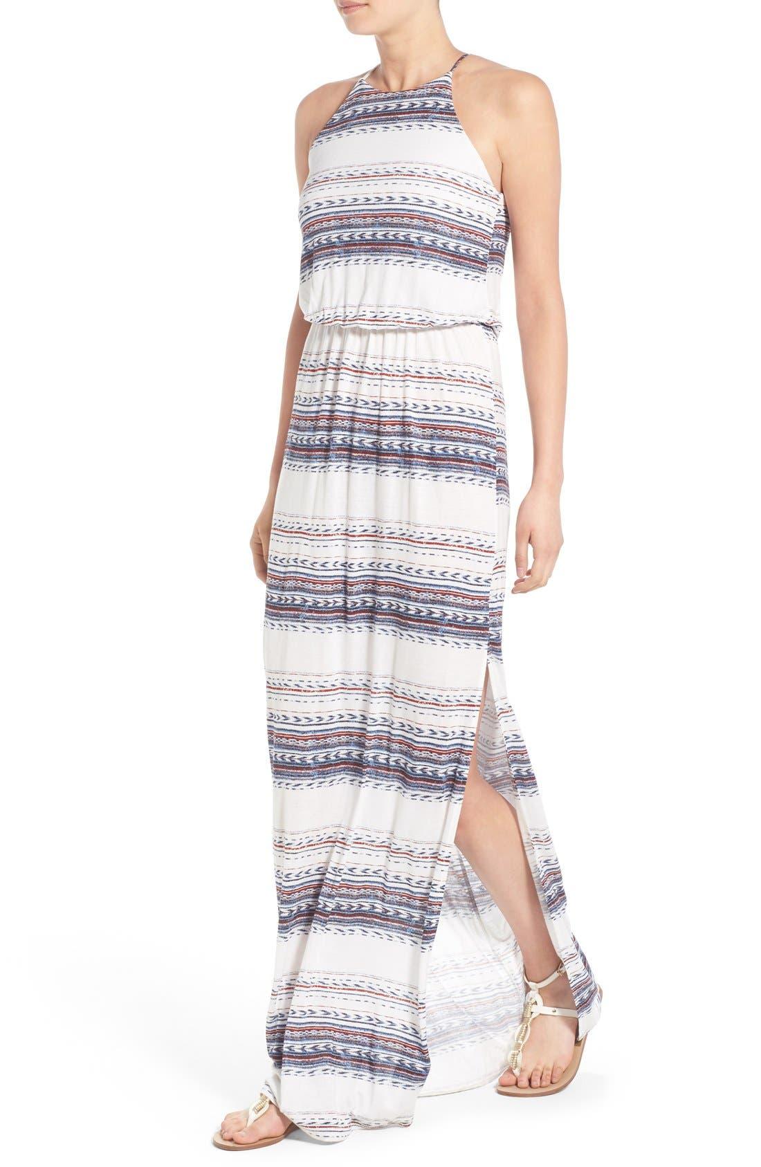 ,                             High Neck Maxi Dress,                             Alternate thumbnail 147, color,                             901