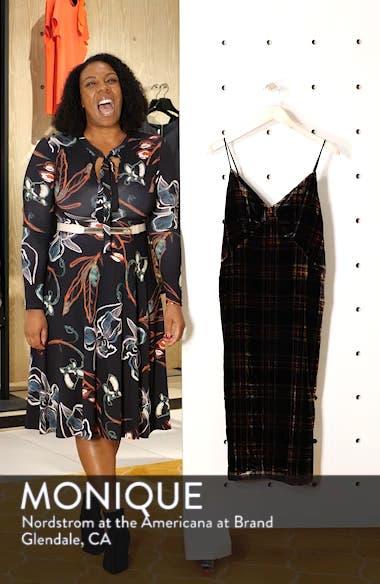 Spaghetti Strap Midi Dress in Velvet Stewart Tartan, sales video thumbnail